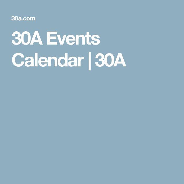 30A Events Calendar | 30A