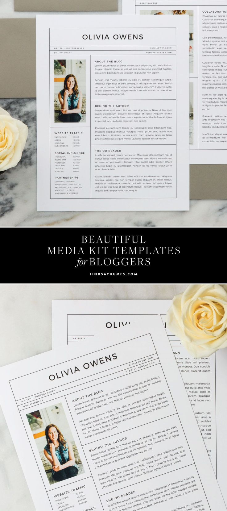 How to create a beautiful media kit for your lifestyle blog