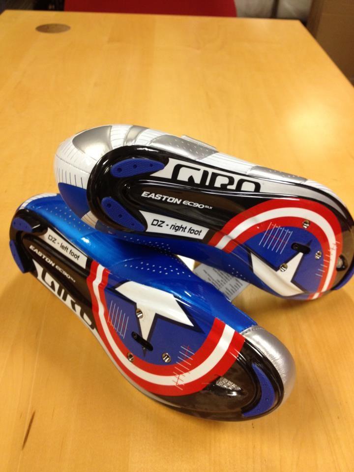 David Zabriskie's Custom Giro Cycling shoes