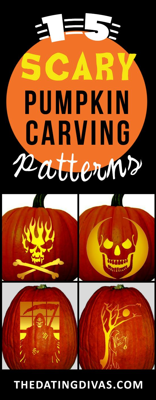 These super scary and spooky pumpkin carving patterns is just what the doctor ordered for this Halloween! www.TheDatingDivas.com