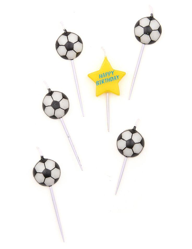 5 candeline di compleanno pallone da calcio su VegaooParty, negozio di articoli per feste. Scopri il maggior catalogo di addobbi e decorazioni per feste del web,  sempre al miglior prezzo!