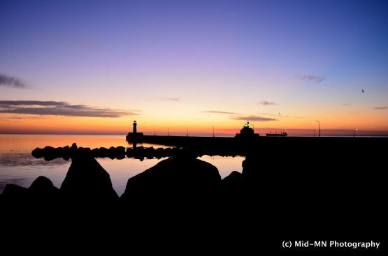Dawn's Early Light, Canal Park, Duluth, MN, by TJ Larson