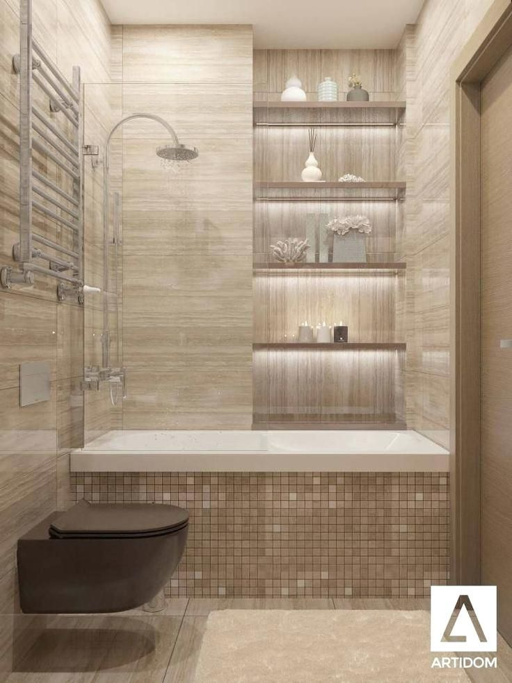 Small Bathroom Design With Bathtub And Shower In 2020 Bathroom