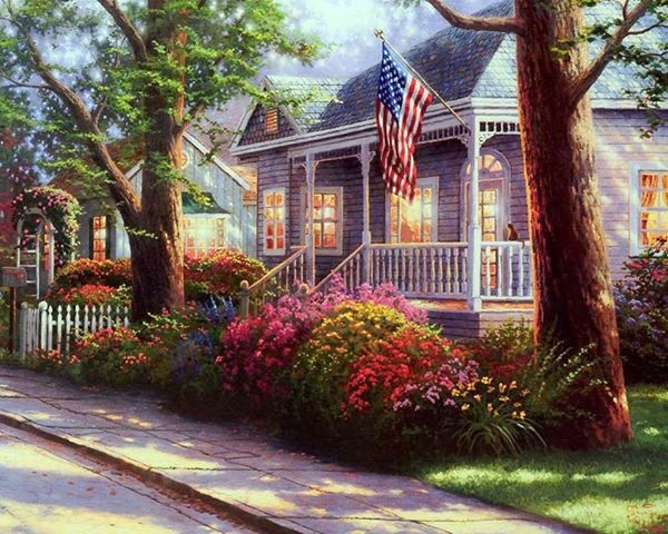 Hometown Pride ~ Thomas Kinkade   2002