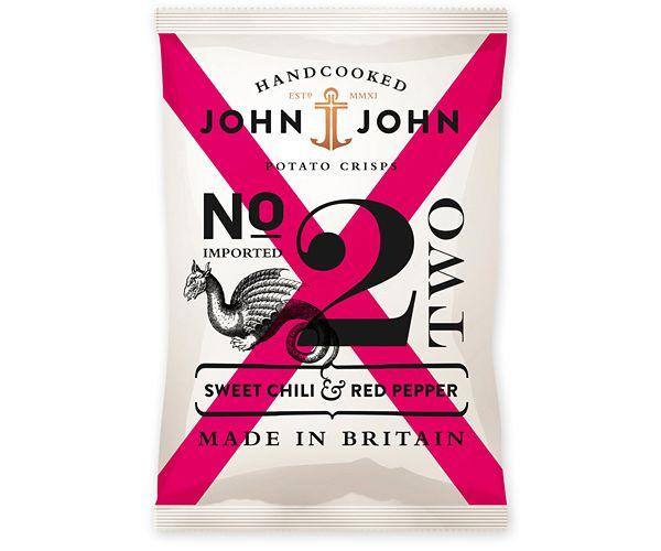 John & John Crisps: Potatoes Chips, Red Peppers, John Crisp, Packaging Design, Graphics Design, John John, John Potatoes, Potatoes Crisp, Design Blog