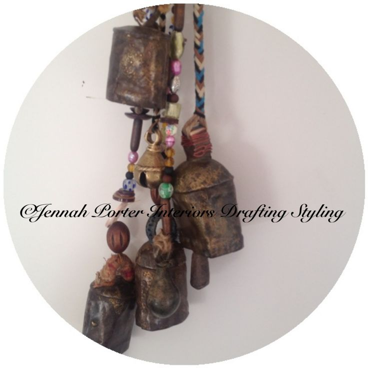 Hand made - decorative cow bell by Jennah Porter Interiors Drafting Styling