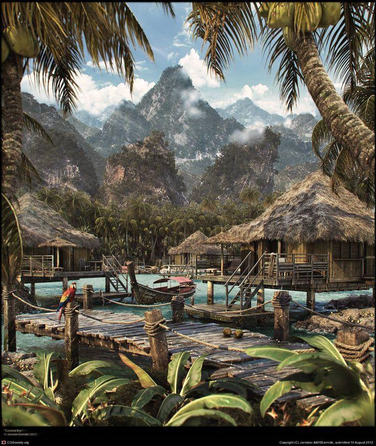 Coconut Bay by Jaroslav Jaroslav Čermák | 3D | CGSociety