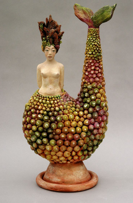 Mermaid, Ceramic sculpture    By LisaLeeSculpture.com  Love this!