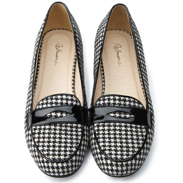 Classic houndstooth penny loafers / Mocassins ...