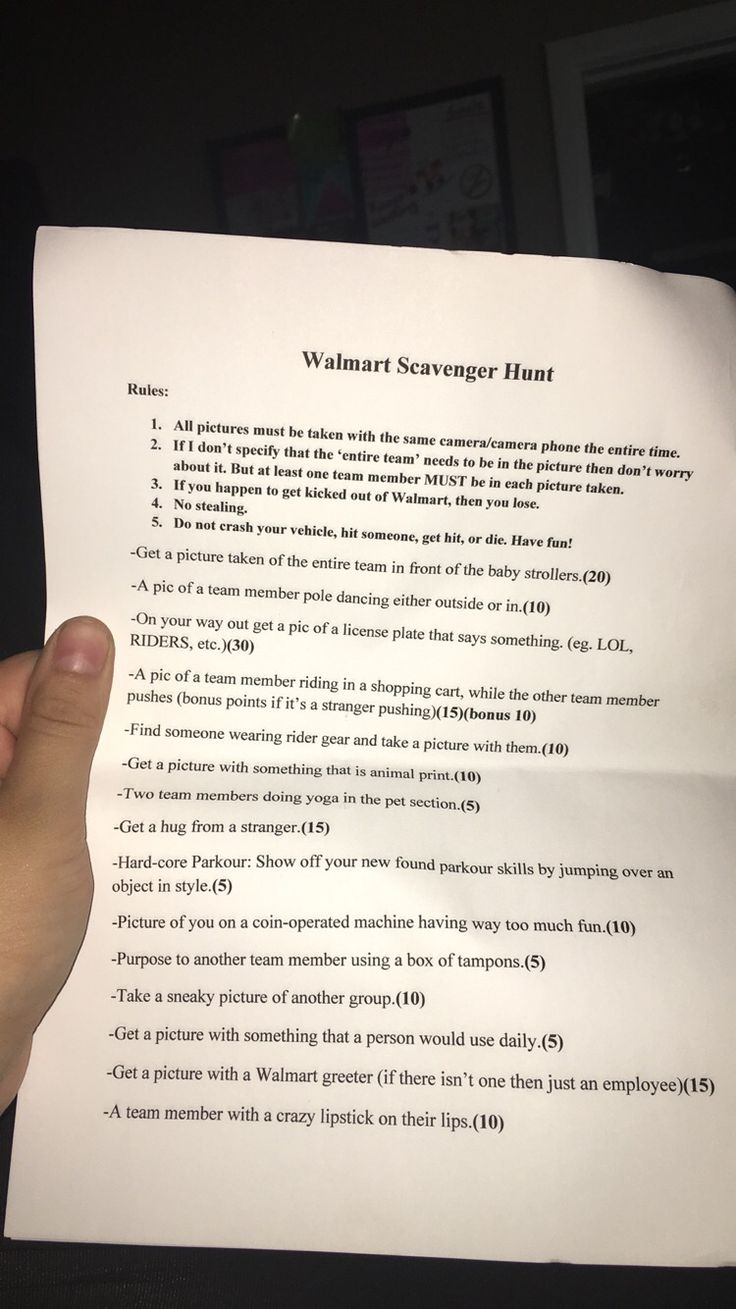 Thanks for Scavenger hunt lists for teens