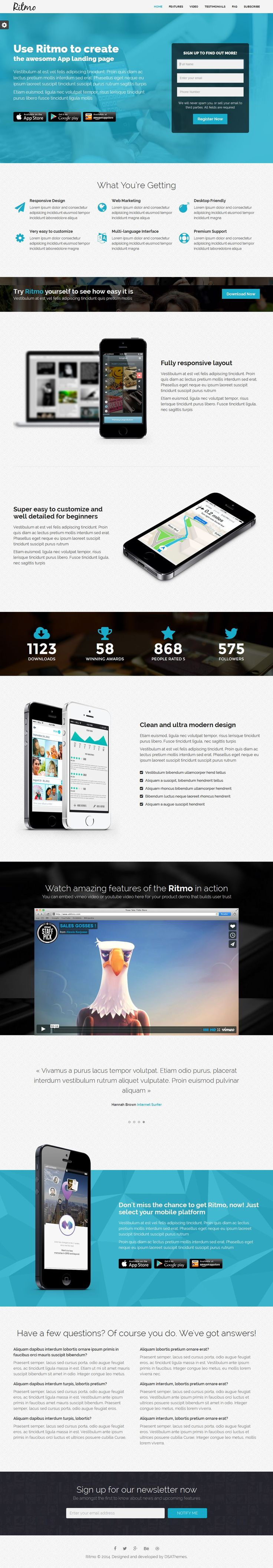 Ritmo - Mobile App Landing Page HTML5 Template | Buy and Download: http://themeforest.net/item/ritmo-mobile-app-landing-page-html5-template/8257395?WT.ac=category_thumb&WT.z_author=DSA79&ref=ksioks