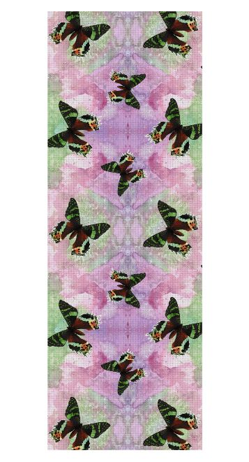 Urania ripheus butterfly watercolor pattern Yoga Mat by @savousepate on Rageon! #yogamat #butterfly #butterflies