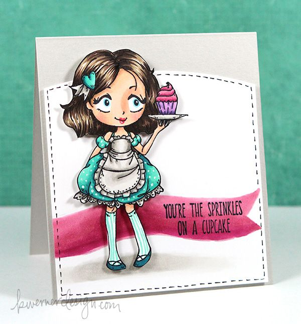 Copic Markers & TGF Dollie With Cupcake – Color Wednesday #57