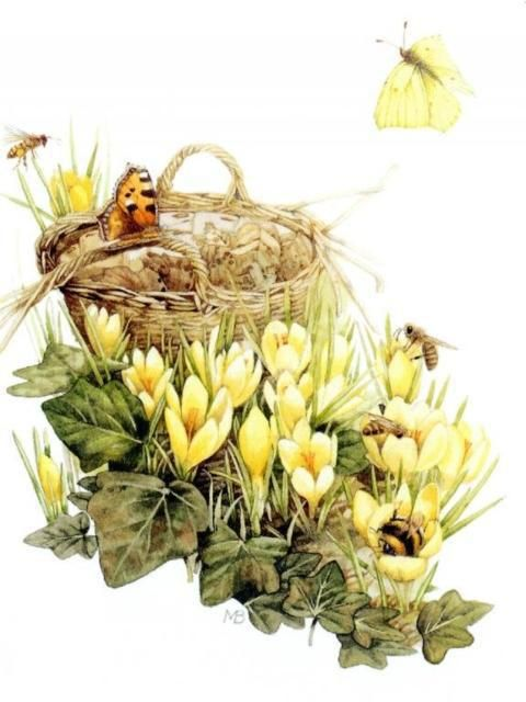 Оригинал схемы вышивки «Дыхание весны»