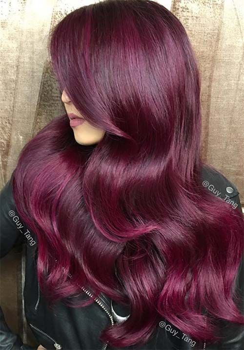 styles of hair color 17 best ideas about burgundy hair colors on 8837 | a42ab2ce6b47444f9592362b1f8f25e4