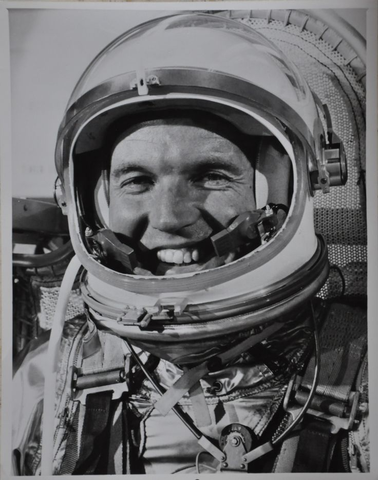 "Original 1963 8"" x 10"" Photo of Mercury 7 Astronaut Gordon Cooper in Space suit mask prior to the launch of the Mercury-Atlas 9 Mission Photograph is in very good condition with faint edge wear on the"
