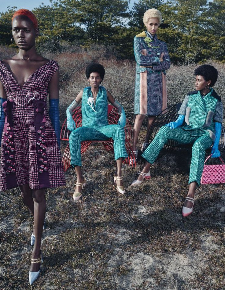 A groovy high fashion shoot embracing ones mixed and ethnic background. Decked out in 70's inspired fashions we have models Ajak Deng, Amilna Estevão, Anais Mali, Aya Jones, Binx Walton, and …