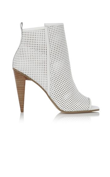 Perforated Peep Shoe Boot
