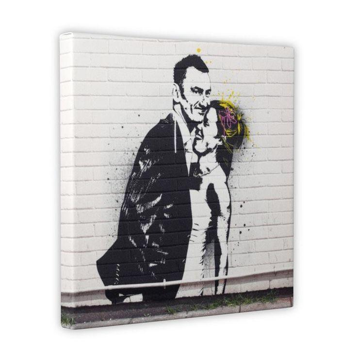 Banksy style wedding portrait, from £79