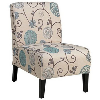 I love the blues with the brown on this chair. Fred Meyer has a bunch of chairs like this and I love them all