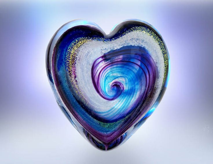 Pet Ashes into blown glass hearts