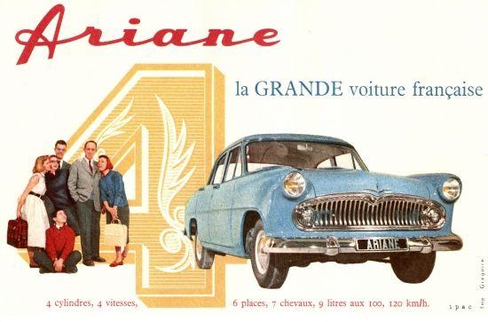 Ariane 4, la grande voiture française