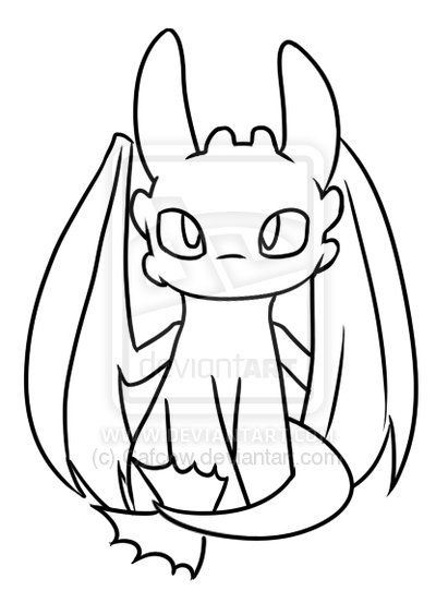 how to train your dragon coloring pages night fury - Google Search