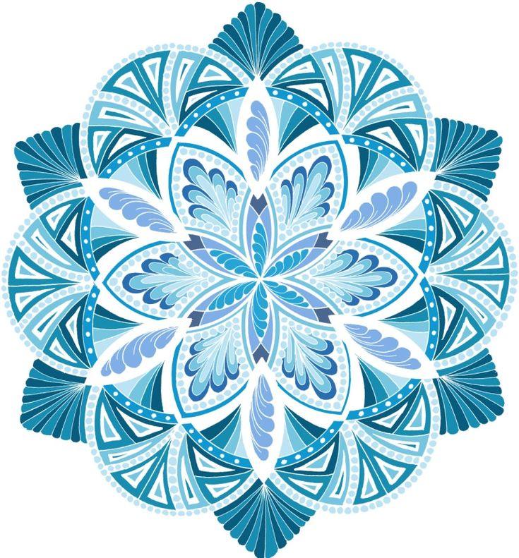 Energize It Ocean White Mandala by Jane Snedden Peever