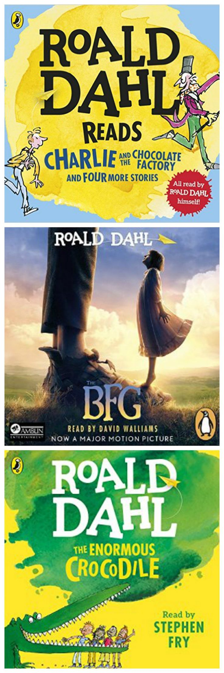 a selection of the best Roald Dahl audio book for kids