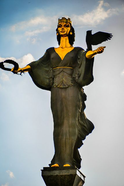 Statue of Sveta Sofia in Sofia Bulgaria