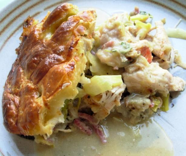 French Tart: Leftover Turkey and Leek Pot Pie With Instant Gravy