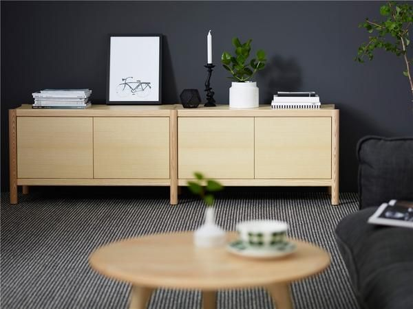 Cavetto Shelving Unit L940 with 2 Shelves by Karl Andersson & Söner