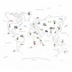 Mural Mapa Mundi Bon Voyage 279x270