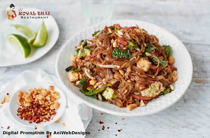 This easy #pad #Thai #recipe can be made in under 15-20 minutes fora #healthy family #dinner available at #RoyalThai.