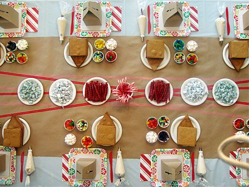 gingerbread house party @vivint and #letsneighbor pinned by Heather B. from milkglassandhoney.com