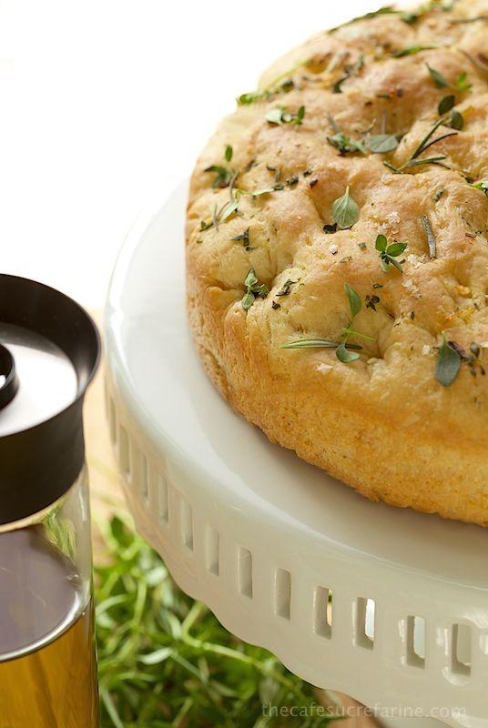 Lemon, Rosemary & Thyme Focaccia, an Italian inspired flat bread with ...