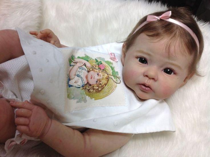 Boneca Reborn Menina Bebê Protótipo Le Retrato Raven Linda Hill, IIORA