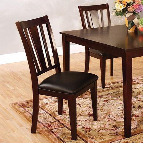 Furniture of America CM3325SC Bridgette Side Dining Chair (Set of 2)