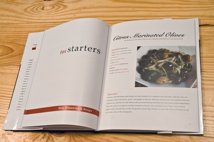 French cookbook...chapter opening
