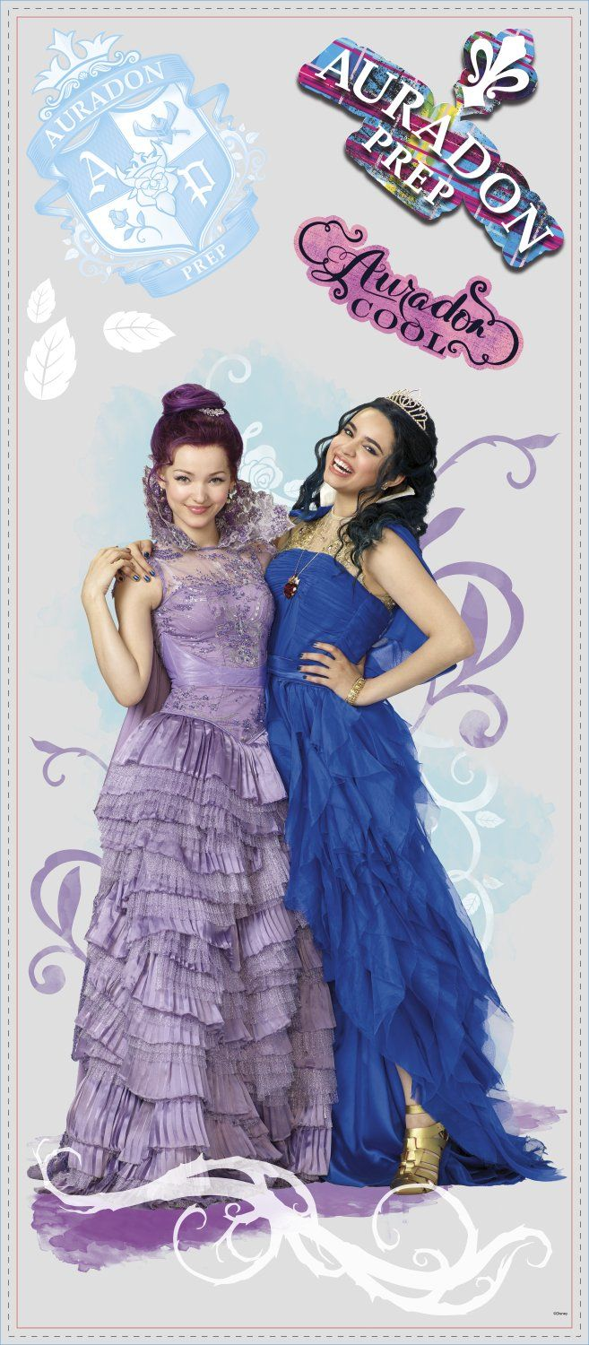RoomMates RMK2853TB Descendants Mal & Evie Peel & Stick Wall Graphic, 6 Count