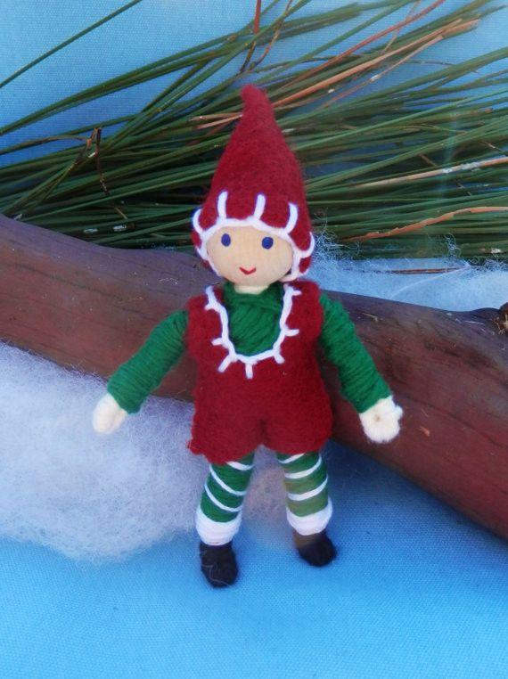 Kindness Elf Miniature Christmas Elf Bendy Doll- Boy