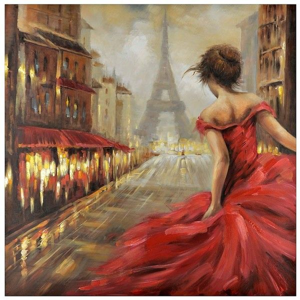 Pursuit of Romance Canvas Art (£99) ❤ liked on Polyvore featuring home, home decor, wall art, backgrounds, canvas wall paintings, stretched canvas, cityscape painting and wall street art