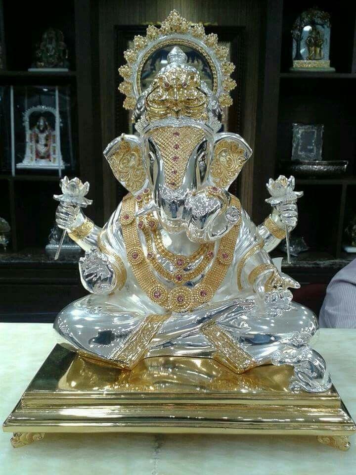Shri Ganesh! Sri Ganesh in silver and Gold........
