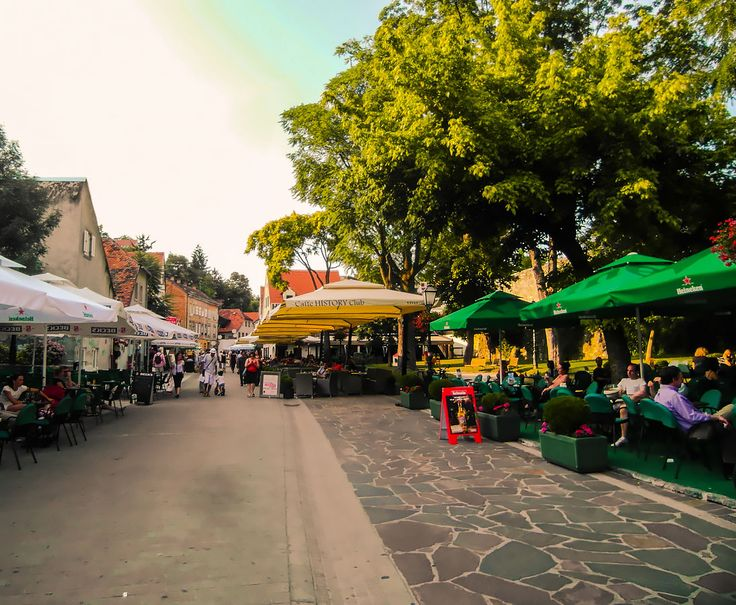Cafes on Tkalciceva Street in Zagreb Center