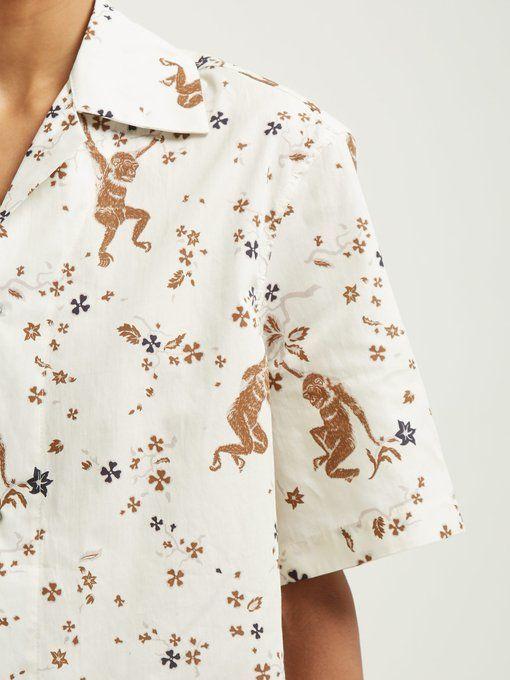 0df73eb088b Monkey-print short-sleeved cotton shirt   Edward Crutchley    MATCHESFASHION.COM US
