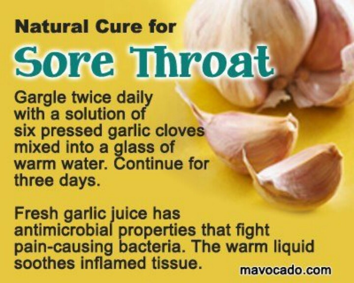 how to use garlic for sore throat