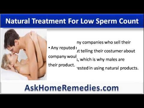 Treatments for low sperm count