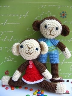 Crochet monkeysCrochet Toys, Pattern Monkeys, Monkeys Brother, Crochet Amigurumi, Crafts Dolls, Crochet Pattern, Toys Monkeys, Sisters Amigurumi, Amigurumi Patterns