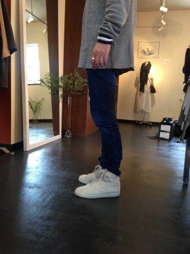 christian peau hi-cut leather sneaker