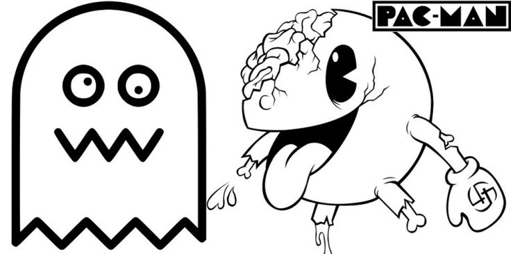Pacman Ghost Zone Coloring Page Online Coloring pages